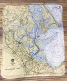 Plymouth Harbor Map Blanket