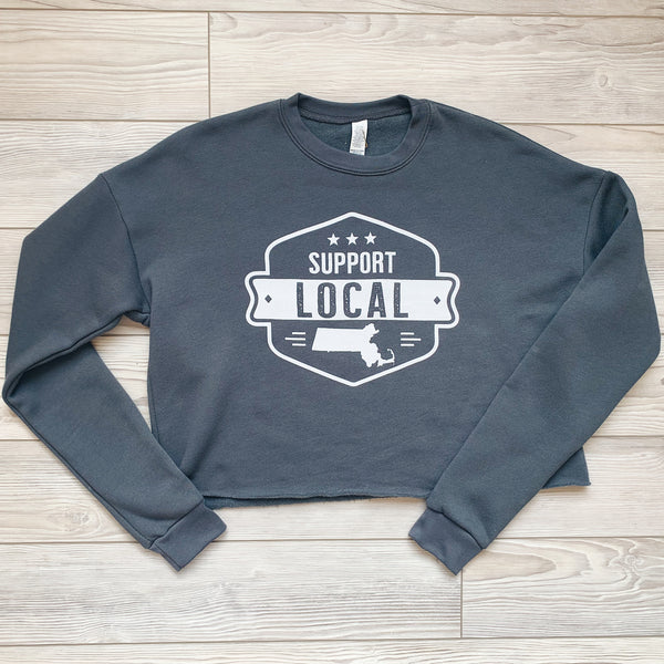 Slate Crop Sweatshirt - Support Local