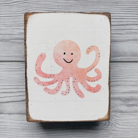 Wooden Octopus Sign