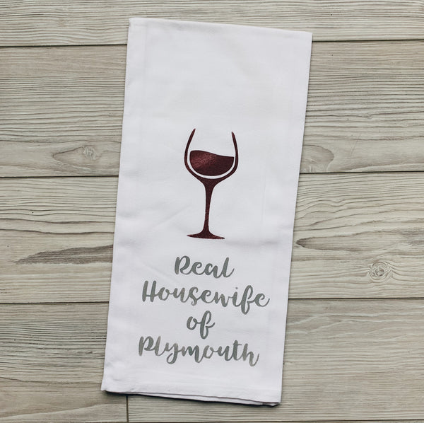 Real Housewives of Plymouth Tea Towel