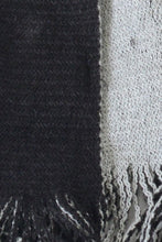 Charcoal Contrast Fringe Scarf