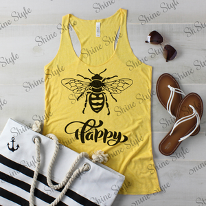 """Bee"" Happy Custom Tank - 8430"