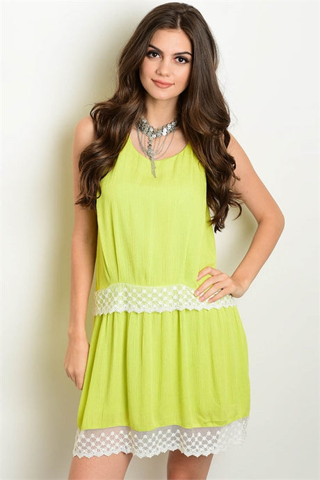 Lime 2 Tier Dress