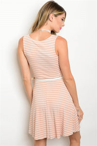 Belted Stripe Dress