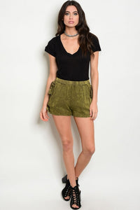 Mineral Wash Lace Up Shorts