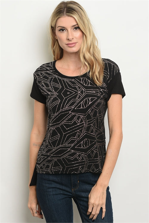 Shimmer Metallic Top