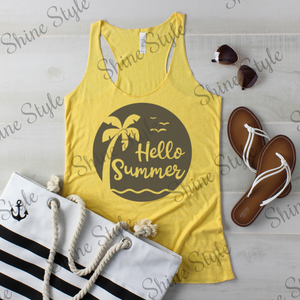 """Hello Summer"" Custom Tank - 8430"
