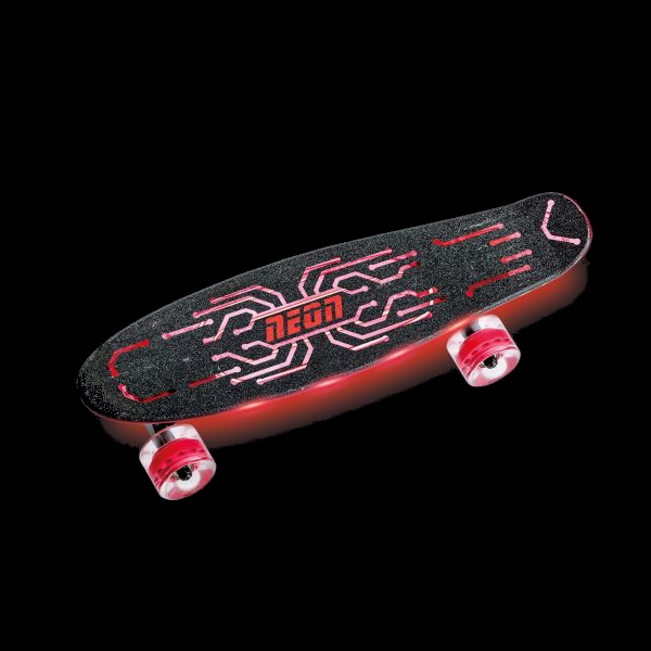 Neon Hype Skateboard - Red