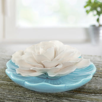 Ceramic Flower Diffuser | Limited Edition Baby Blue Plate