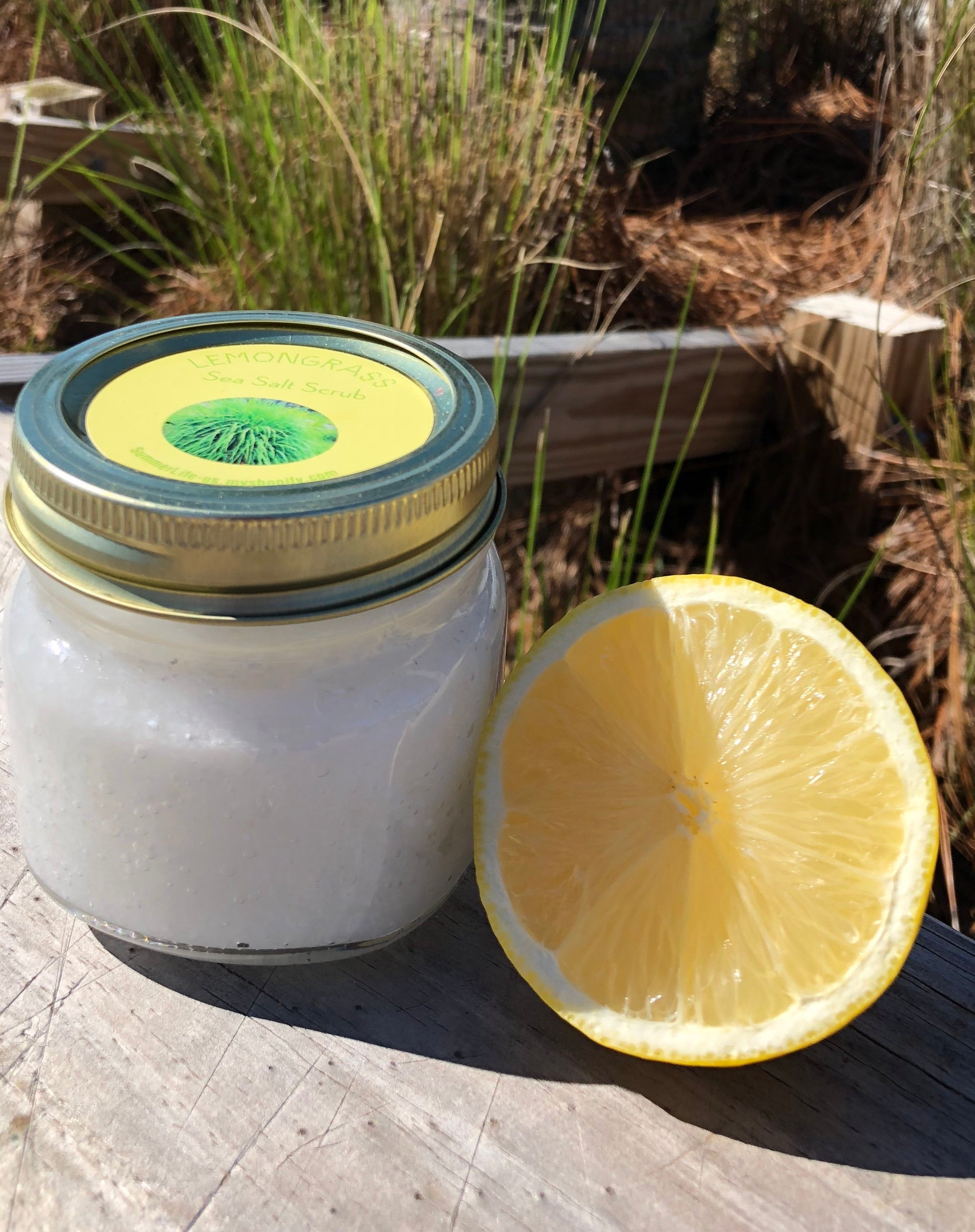 Lemongrass Salt Scrub