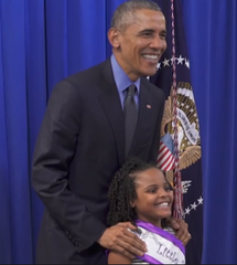 President Obama & Mari Copeny share a proud moment together!