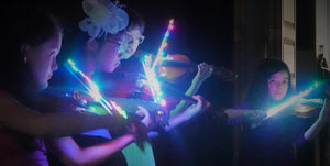 Open image in slideshow, Rozanna's Violins 4/4 Multi Color Glow Bow