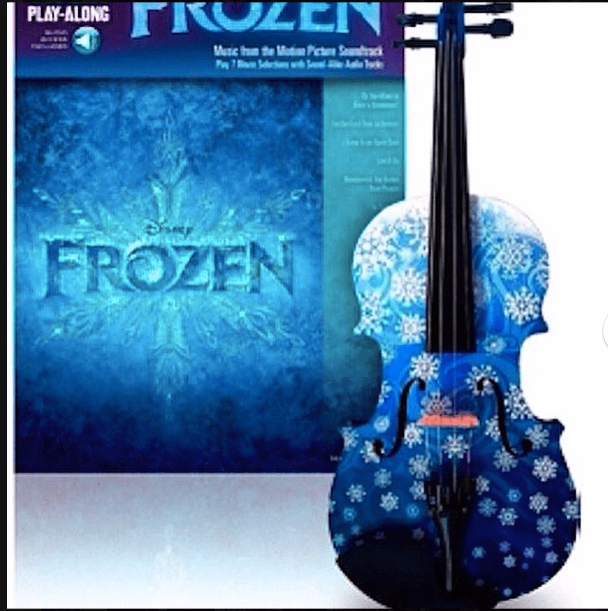 Rozanna's Violins Musical Instruments Snowflake Fuchsia White Glitter Violin Outfit