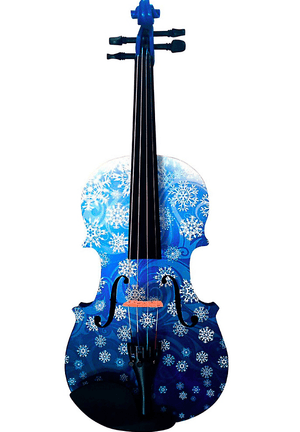 Rozanna's Violins Musical Instruments Snowflake White Glitter Violin Outfit