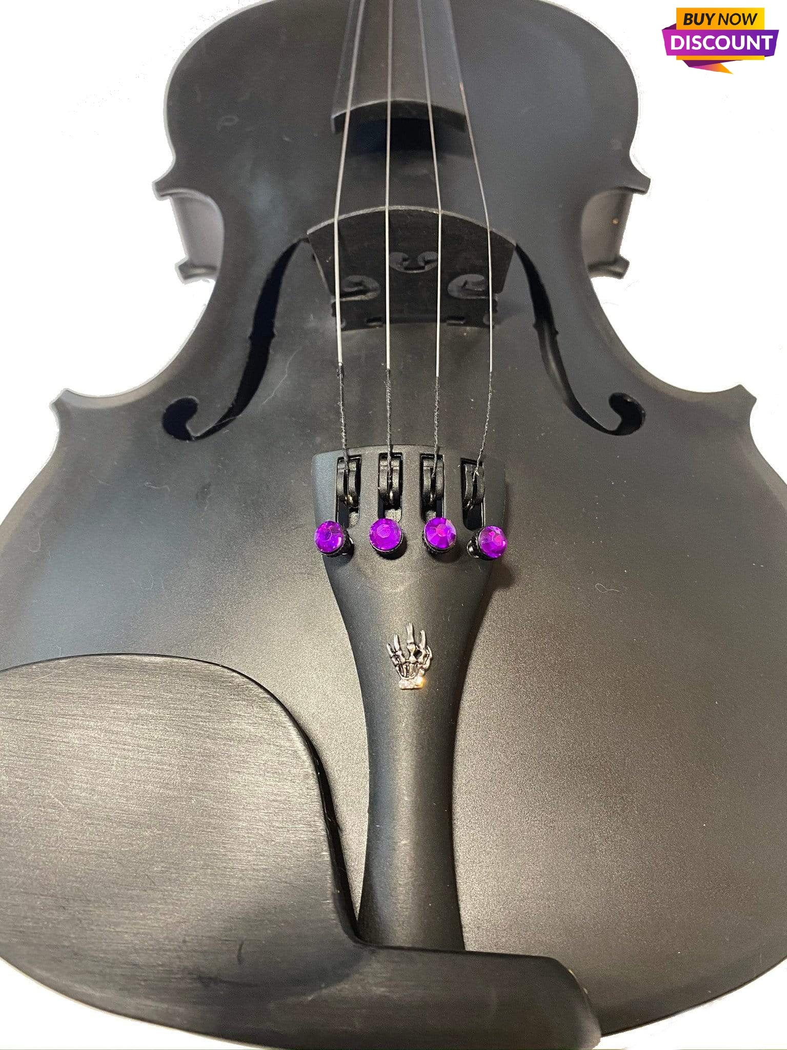 Rozanna's Violins violin Rozanna's Carbon Composite Violin Outfit w Skeleton Hand Tailpiece