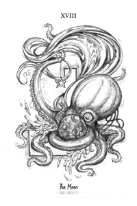 Octopus Tarot - The Moon