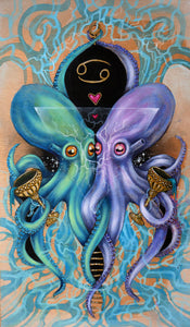 Octopus Tarot - Two of Cups Painting