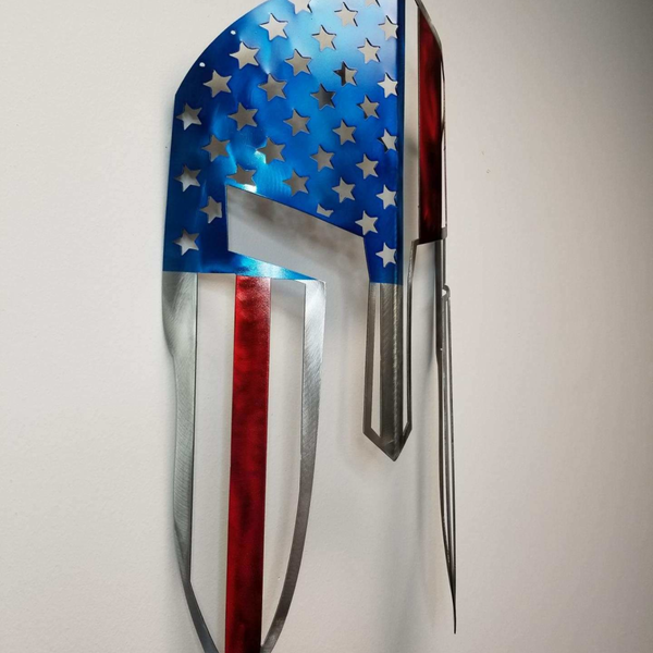 #merica Painted Spartan Helmet / Wall Mounted