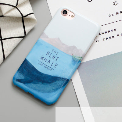 The bule sea whale phone Cases For iphone 6 6s 6plus 7 7Plus  iphone 8 8plus
