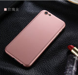 Luxury 360 Degree Full Body Protection Matte Phone Case For iPhone 7 Plus,iPhone 6 Plus,iPhone 6s,iPhone 5s,iPhone 6s plus,iPhone 8,iPhone 6,iPhone SE,iPhone 5,iPhone 7