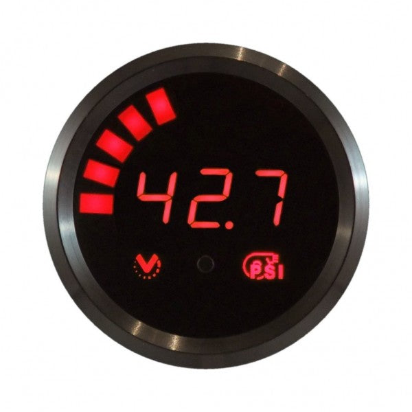 VEI Systems boost gauge - High Resolution Version (Red, Black bezel)