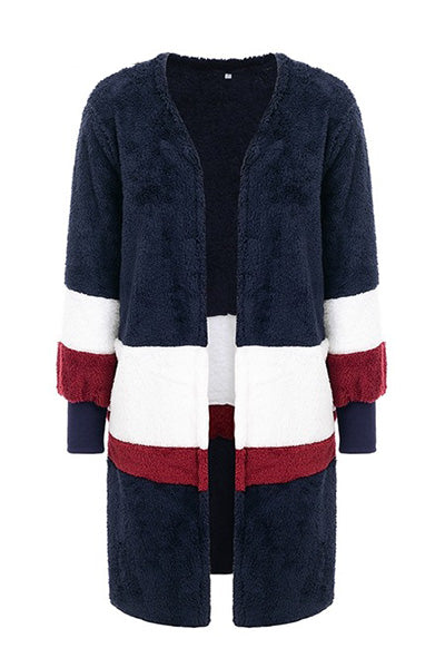 778f174fcd3ae Plush patchwork faux fur coat - Funny Wares
