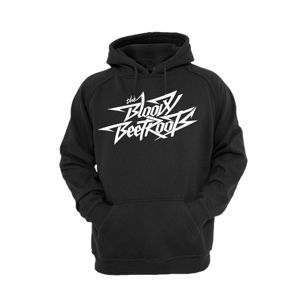 Black and White Logo Hoodie