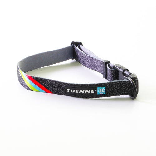 topographic sublimated dog collar carabiner