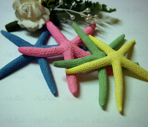 Finger Starfish Blue Green Yellow Pink 10cm x 13cm