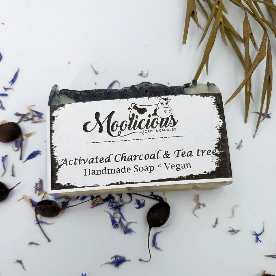 Activated Charcoal & Tea Tree Oil Handmade Soap