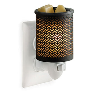 Black Chevron Pluggable Candle Warmer