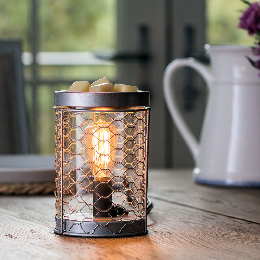 Chicken Wire Edison Electric Candle Warmer