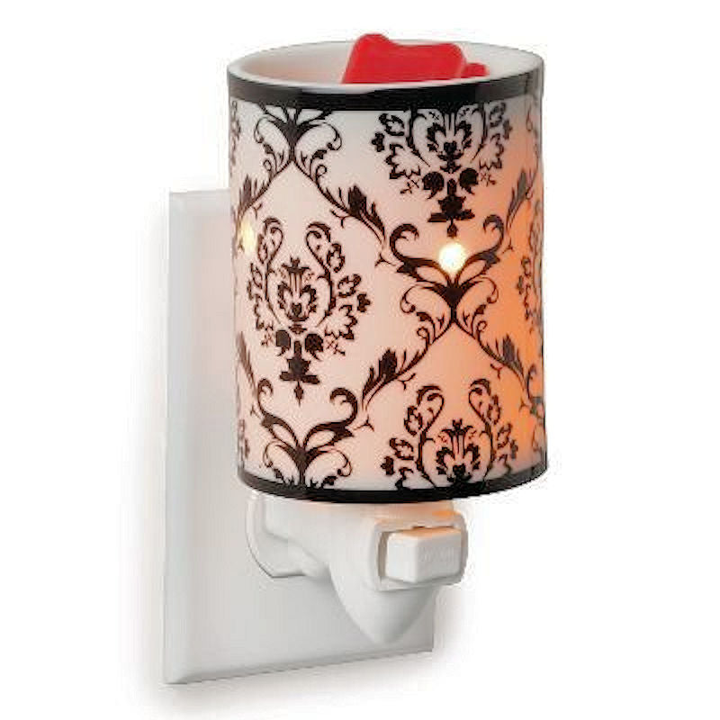 Damask Porcelain Pluggable Electric Candle Warmer