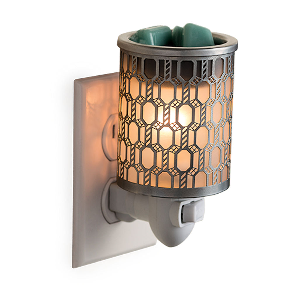 Filigree Pluggable Electric Candle Warmer