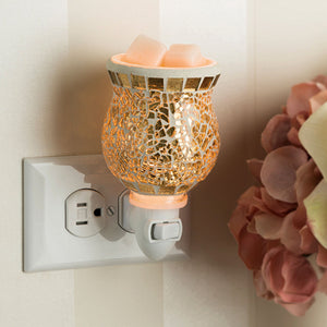 Gilded Gold Glass Electric Pluggable Candle Warmer