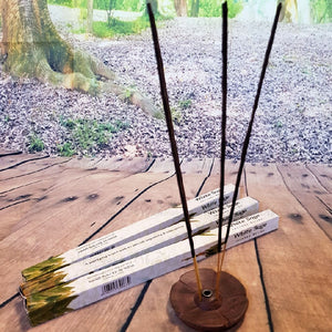 White Sage Incense Starter Pack - Complete with Tibetan Wood Holder