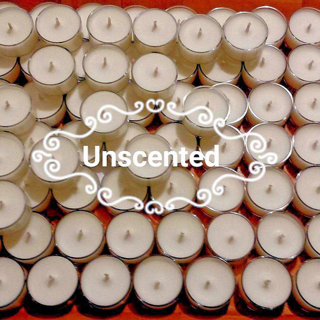 50 Natural Tealights 100/% Vegetable Wax Blend Paraffin-Free 4 Hours Unscented