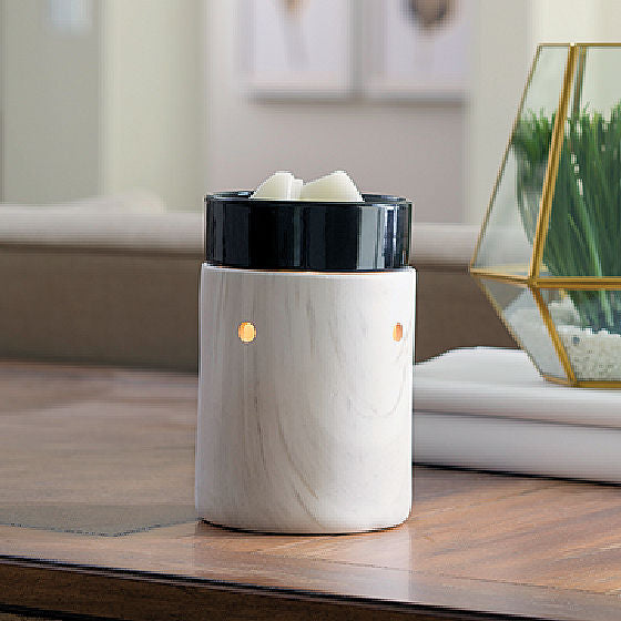 White Marble Illumination Warmer