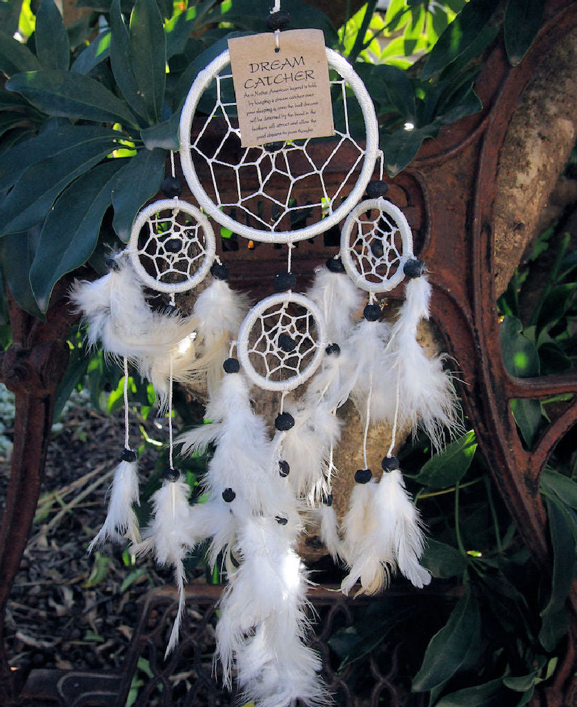 Dream Catcher White Feather Finish