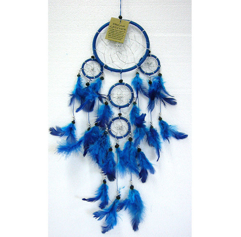 Dream Catcher Blue Feather Finish