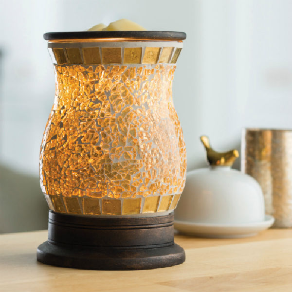 Gilded Gold Glass Candle Warmer