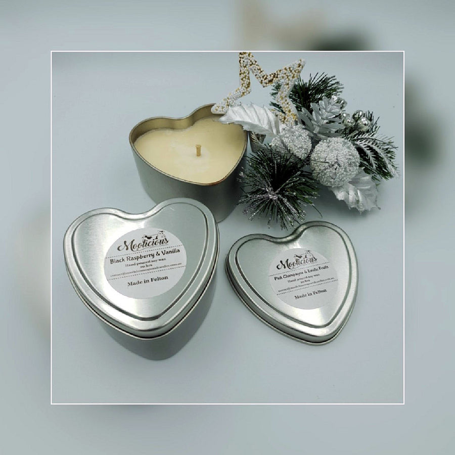 Soy Wax Heart Shape Candle Tins