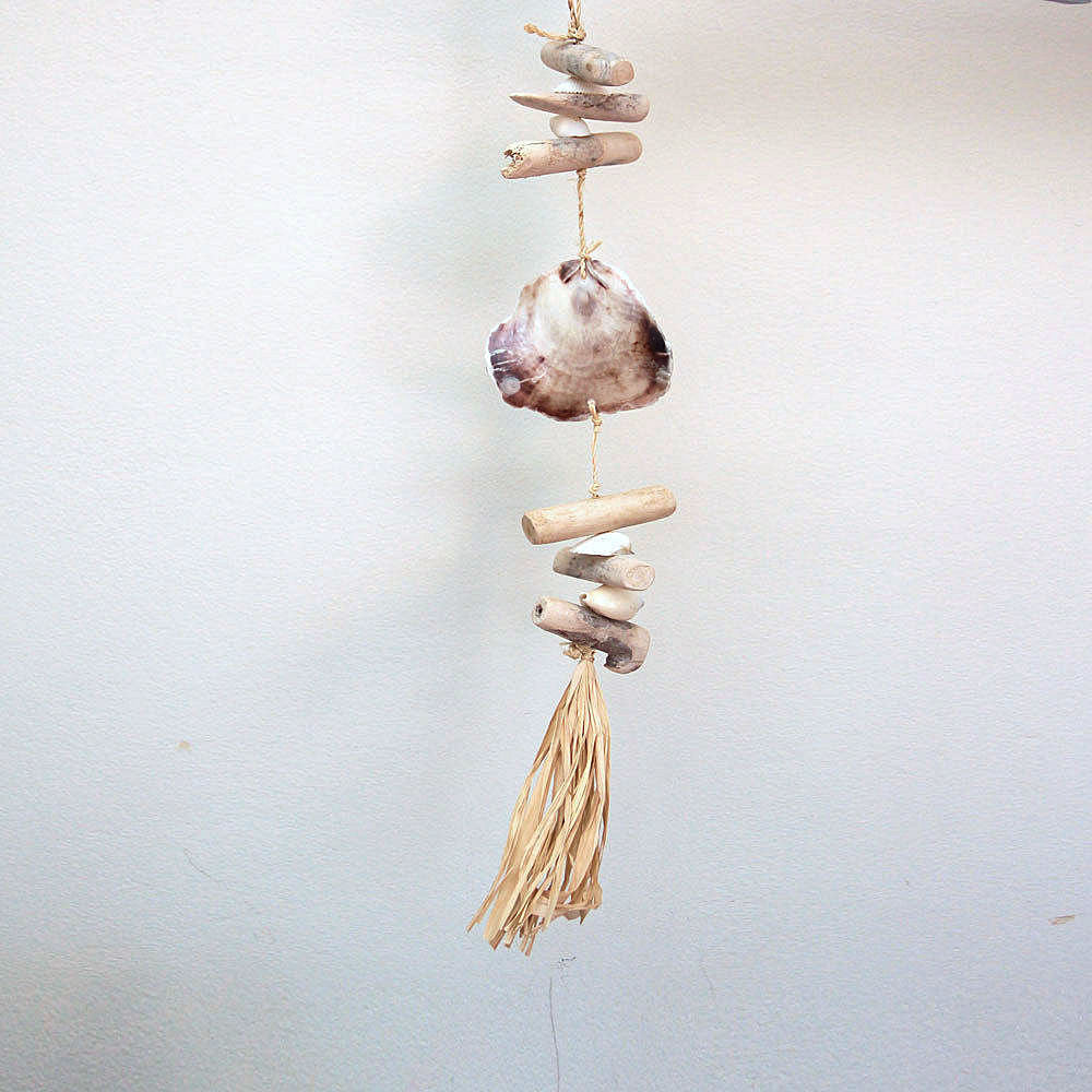 Hanging Mobile with Saddle Shell & Driftwood