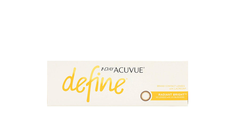 Johnson & Johnson 1 Day Acuvue Define Radiant Bright Contact lens