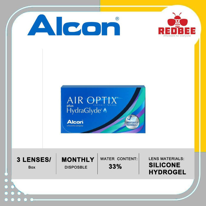 Air Optix Plus Hydraglyde Monthly Contact Lens (3 lenses/box)