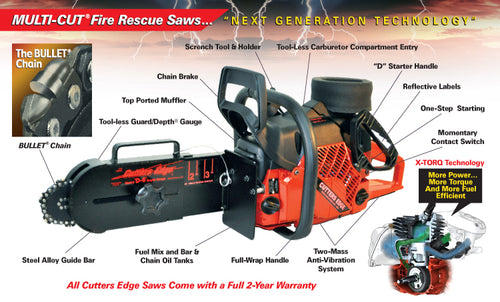 2100 SERIES MULTI- CUT FIRE RESCUE SAWS w/Bullet Chain & ( w/wo) Guard Depth Gauge