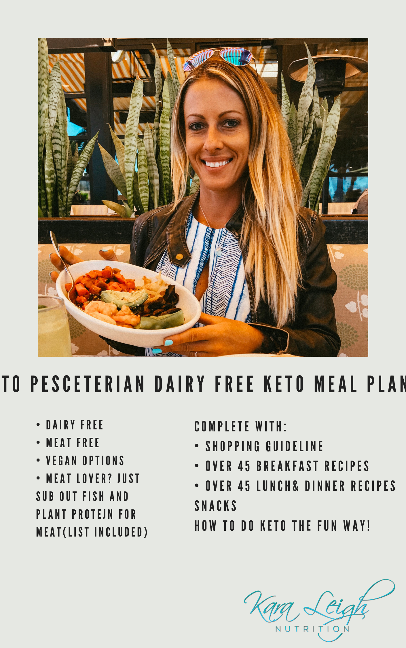 Keto Made Simple MealPlan & Guideline - Dairy Free, Pescatarian/Vegetarian