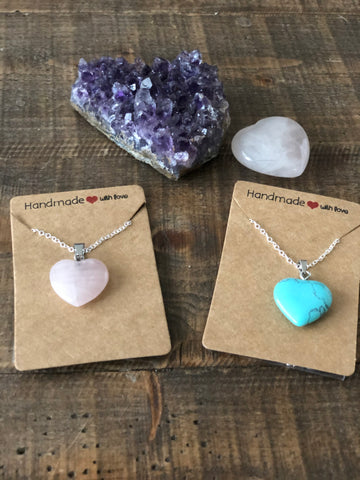 Healing hearts necklaces