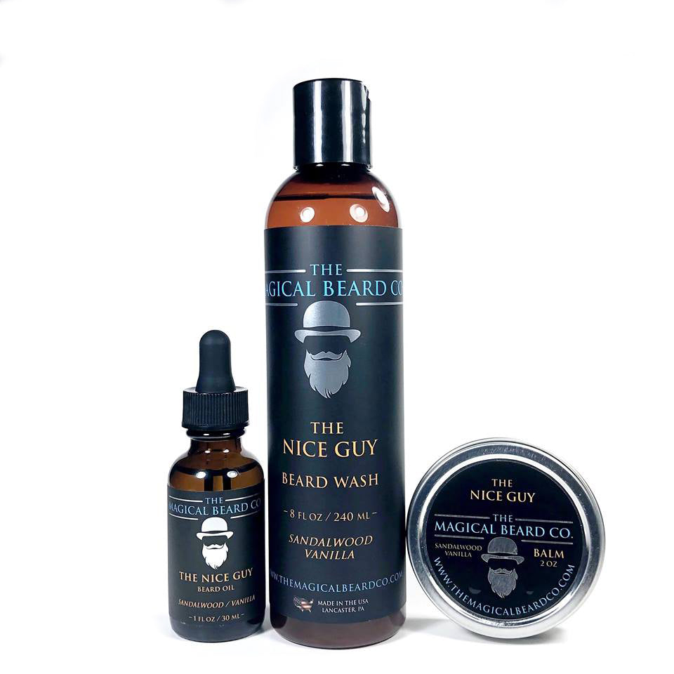 The Nice Guy Starter Pack- Beard Oil, Beard Balm & Beard Wash