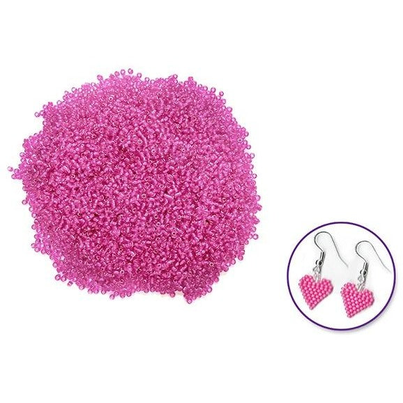 Glass Seed Beads Silverlined - Pink, 60g/pk